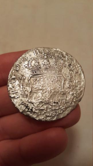 8 Reales de Felipe V de 1734 (Hollandia, 1743) 20210211