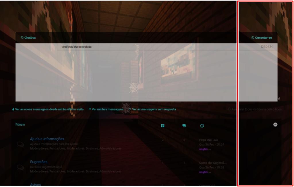 Não repetir imagem de fundo do Fórum Screen14