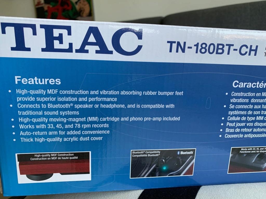 Teac TN-180BT Turntable Bluetooth MM Phono PreAmp 3-speed Vinyl Record Player Teac_310
