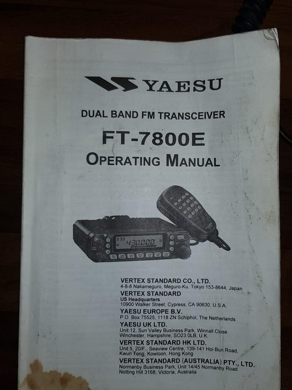 Yeasu FT7800-E Image010