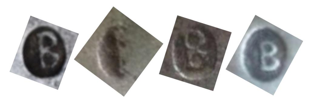 identification poinçons sabre cuirassier an XI Bick_s11