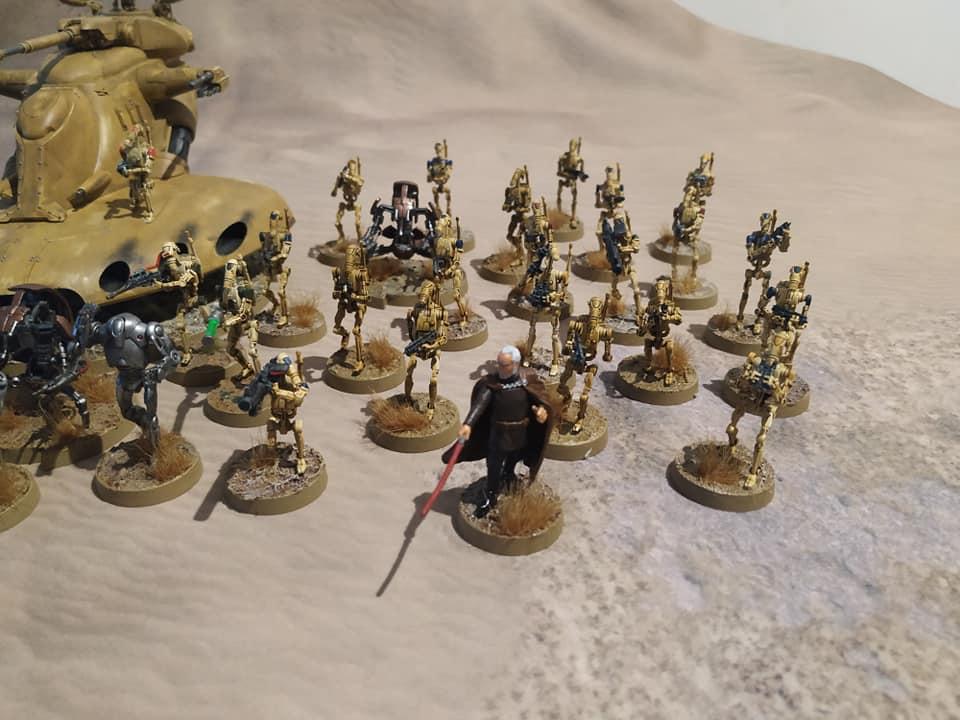 Ejércitos,ensamblajes,pintura y diseños de peanas.  Droid210