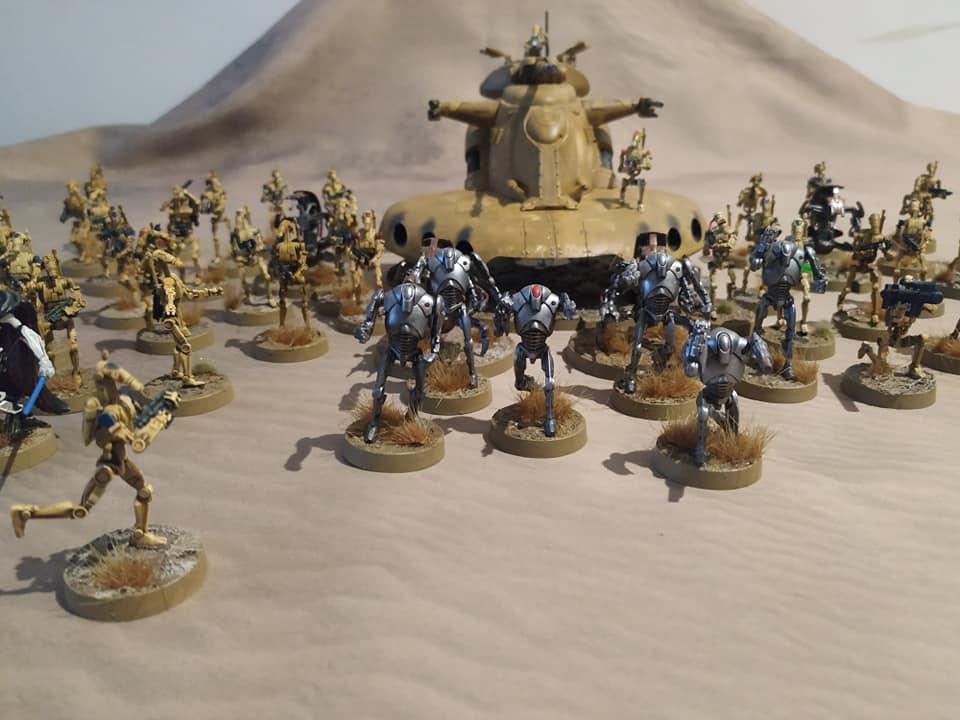 Ejércitos,ensamblajes,pintura y diseños de peanas.  Droid310