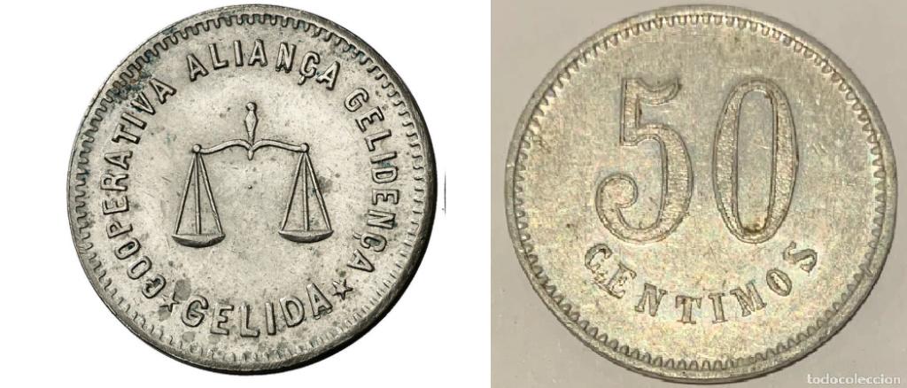 Ficha de Cooperativa - 10 céntimos de Aliança Gelidenca de Gelida Captur10