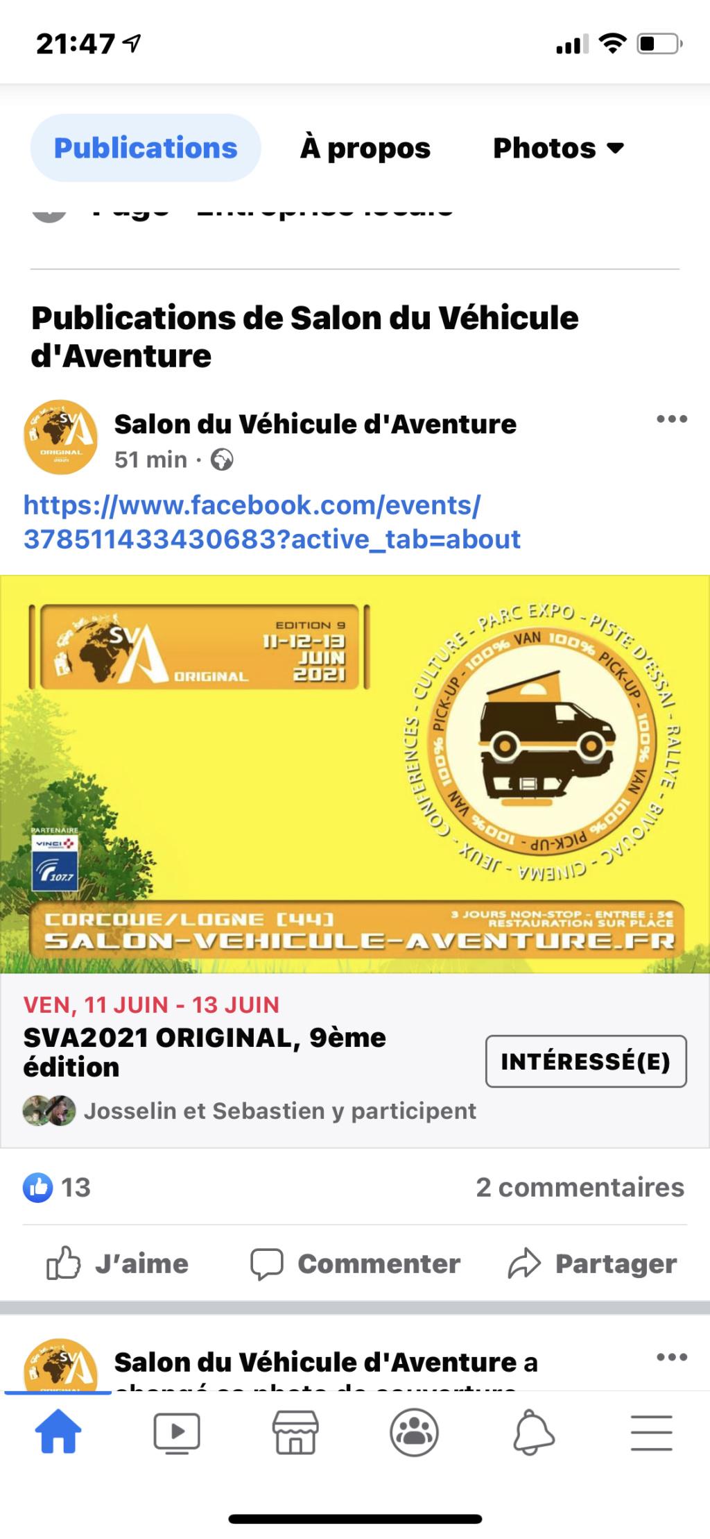 Salon du Véhicule d'Aventure SVA 2021 - Corcoué sur Logne (44) : du 11 au 13 juin - Page 4 2ca53910