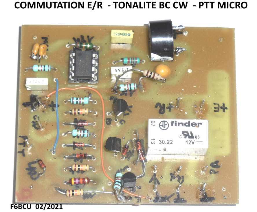 NOUVELLE CONSTRUCTION OM  le Transceiver FUNK DSB CW 80 V3 Commut12