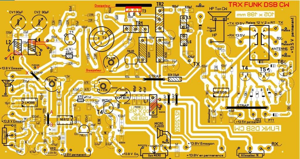 NOUVELLE CONSTRUCTION OM  le Transceiver FUNK DSB CW 80 V3 Implan13