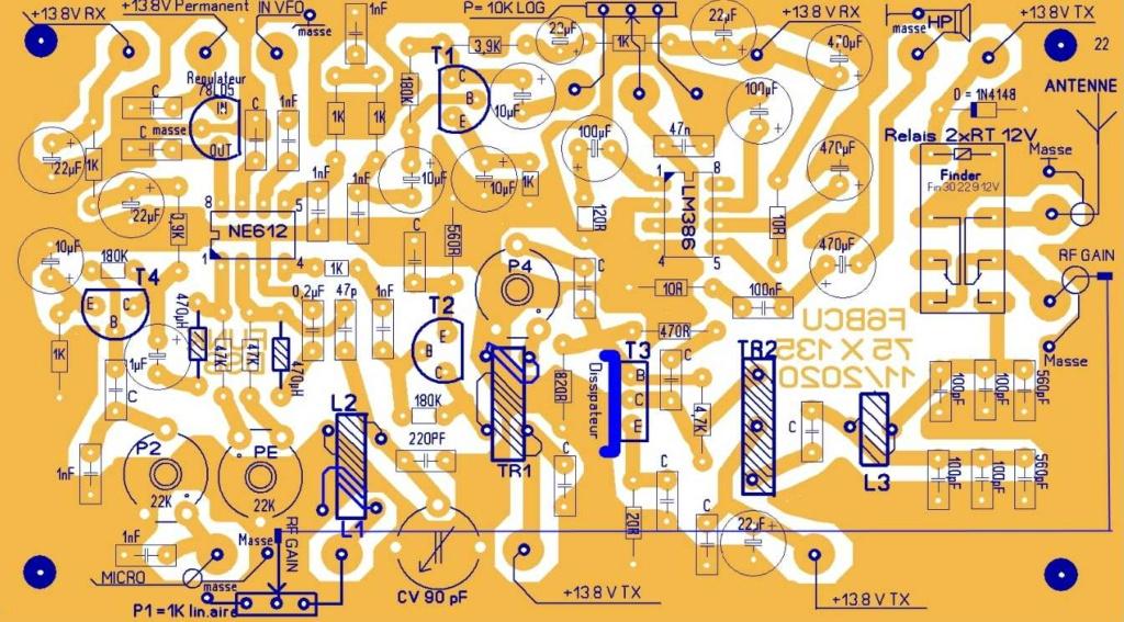 NOUVELLE CONSTRUCTION OM  le Transceiver FUNK DSB CW 80 V3 Implan14
