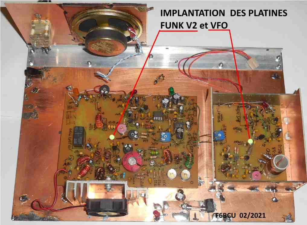 NOUVELLE CONSTRUCTION OM  le Transceiver FUNK DSB CW 80 V3 Implan16