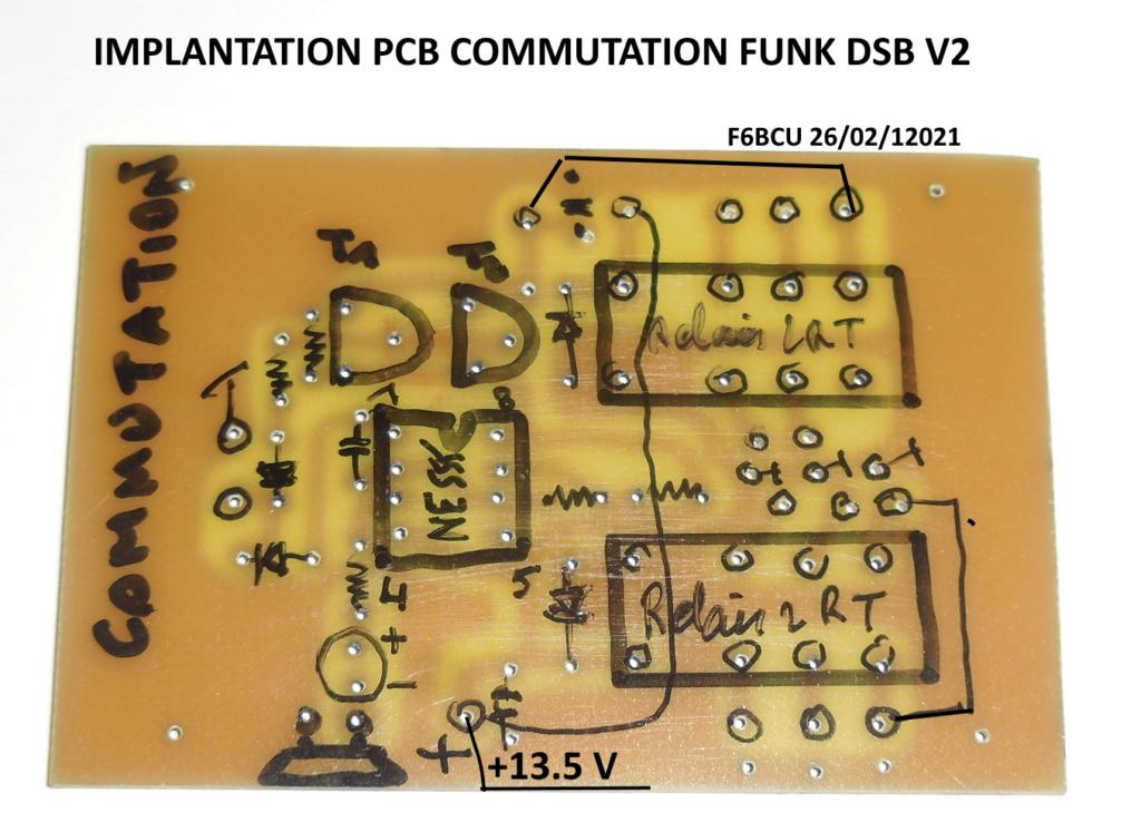 TRANSCEIVER  **FUNK DSB CW ** V3 BIS nouveau Concept Implan20