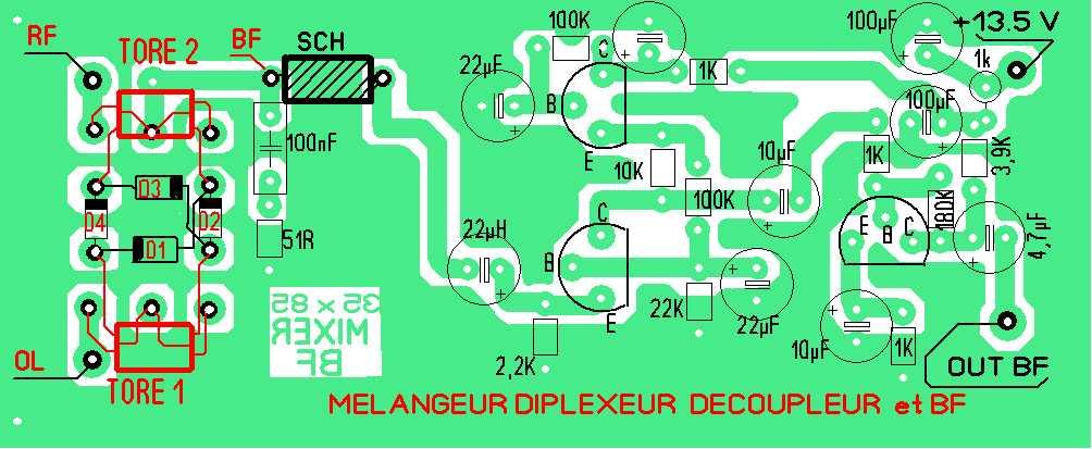 REMASTERISATION  D'UN RECEPTEUR A CONVERSION DIRECTE  DE L'AN 2000 Implan31
