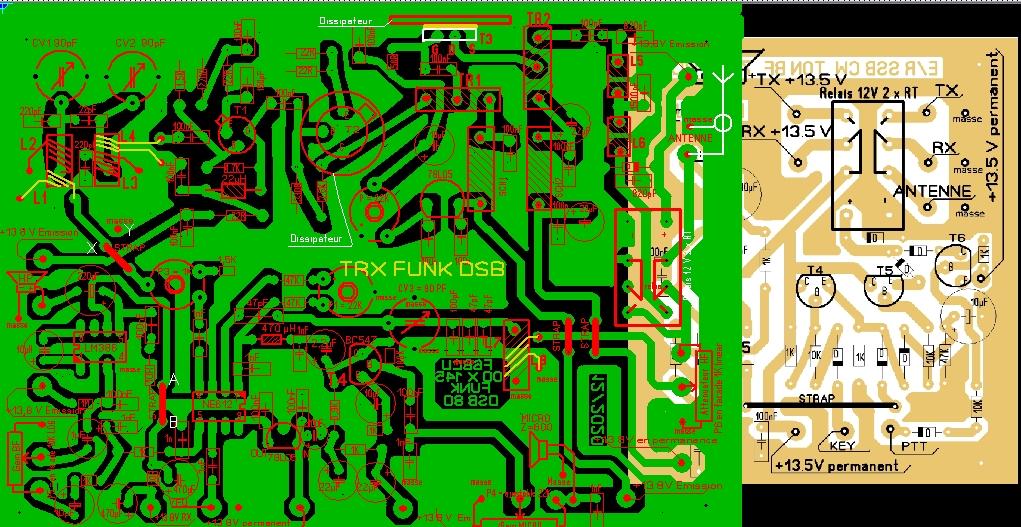 NOUVELLE CONSTRUCTION OM  le Transceiver FUNK DSB CW 80 V3 Pcb_fu10
