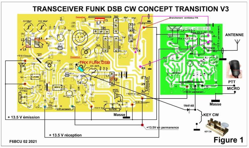 NOUVELLE CONSTRUCTION OM  le Transceiver FUNK DSB CW 80 V3 Schema15