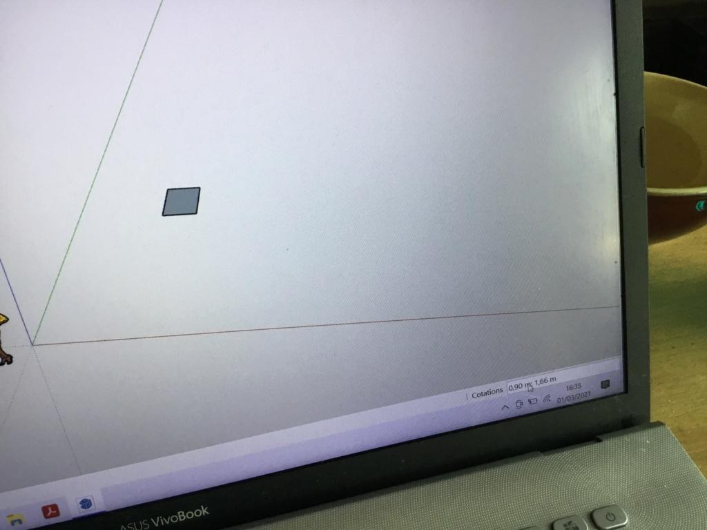 [SKETCHUP GENERALITES] Dimensions  d'un rectangle 57db5c10