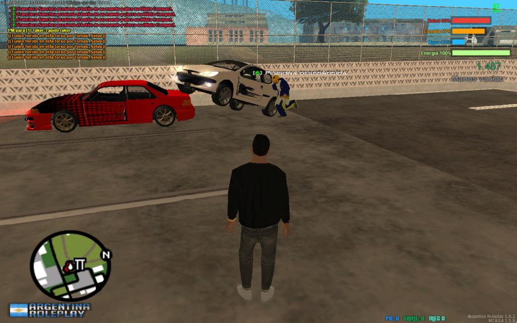 Reporto a Tomas Selva. DM, DM a car, CJ, RK. Mta-sc12