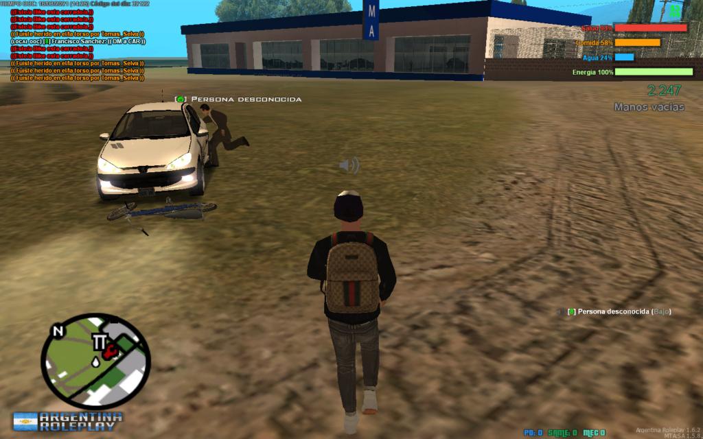 Reporto a Tomas Selva. DM, DM a car, CJ, RK. Mta-sc14
