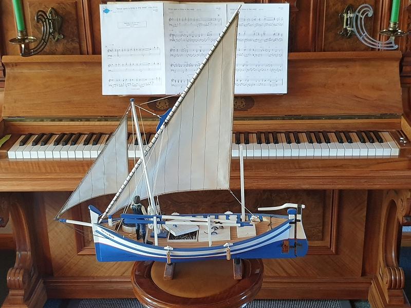 Palma Nova Fischerboot mit Lateinersegel 0118