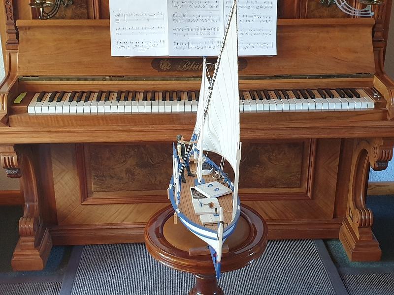 Palma Nova Fischerboot mit Lateinersegel 0218