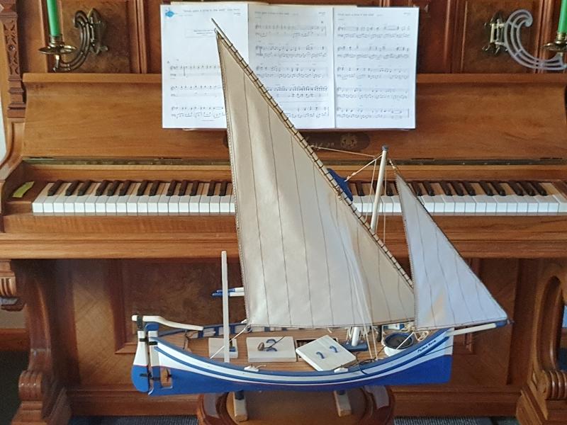 Palma Nova Fischerboot mit Lateinersegel 0318
