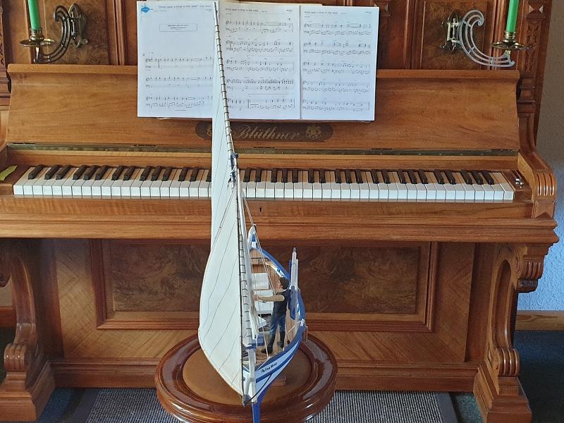 Palma Nova Fischerboot mit Lateinersegel 0416