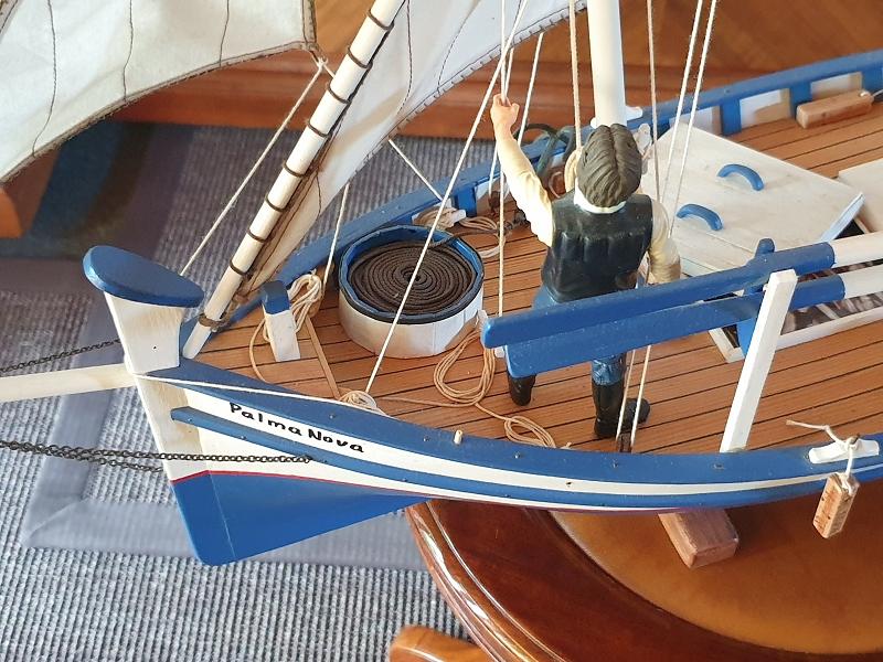 Palma Nova Fischerboot mit Lateinersegel 0516