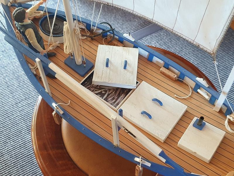 Palma Nova Fischerboot mit Lateinersegel 0617