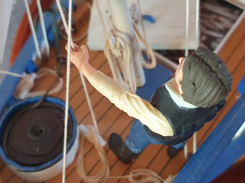 Palma Nova Fischerboot mit Lateinersegel 0817