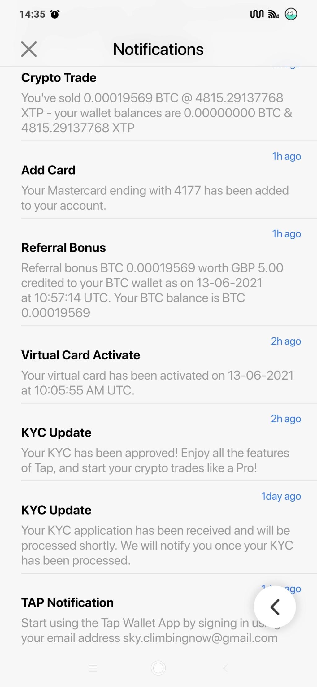 Tap Global - 5£ w BTC za rejestrację i KYC - Page 2 Screen12