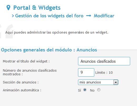 Nuevo widget para mostrar los anuncios clasificados Screen15