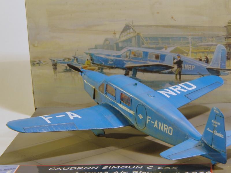 CAUDRON C 635 Simoun 1/72 Compagnie air bleu 1936 Imgp7357