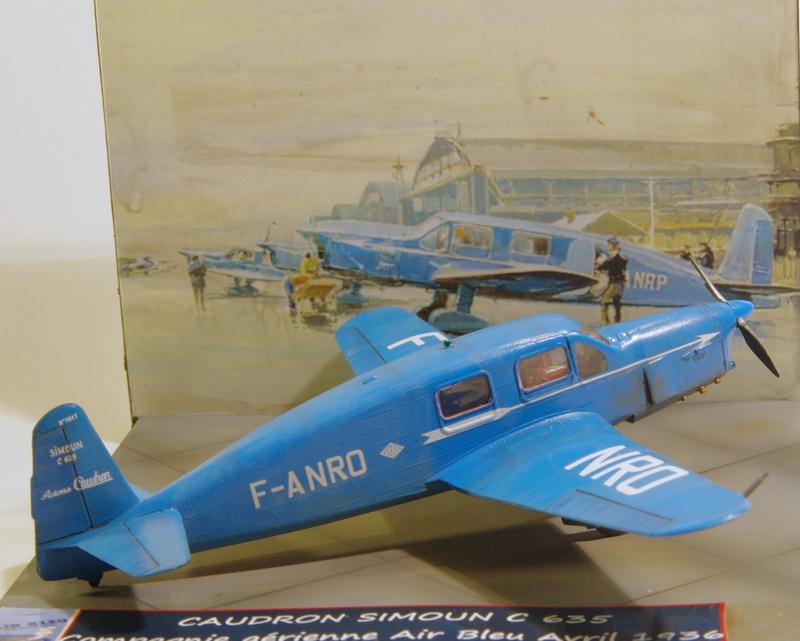 CAUDRON C 635 Simoun 1/72 Compagnie air bleu 1936 Imgp7358