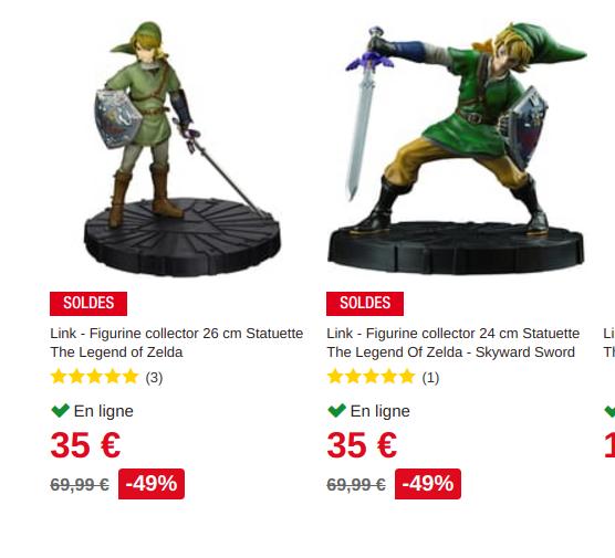 Figurine Link en solde chez Auchan Screen10