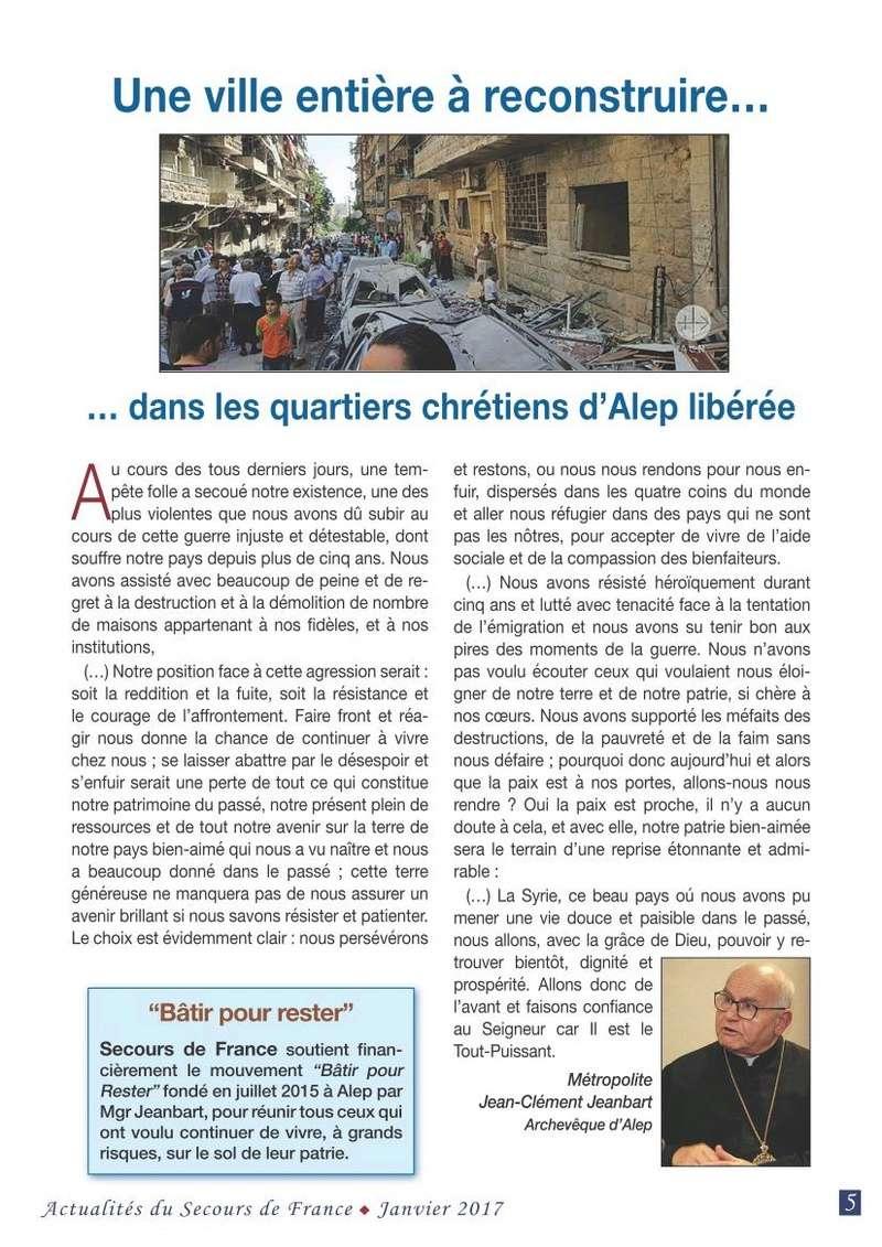 ALEP: Une ville entière à reconstruire...dans les quartiers chrétiens d'ALEP libérés. Alep! l'imposture de la communauté internationale 2017_l13