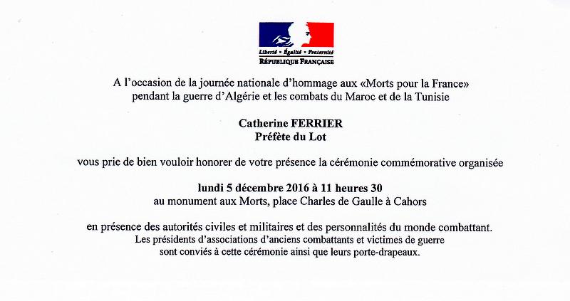 Hommage aux morts: 5 décembre2016 dans le LOT Cyrymo10