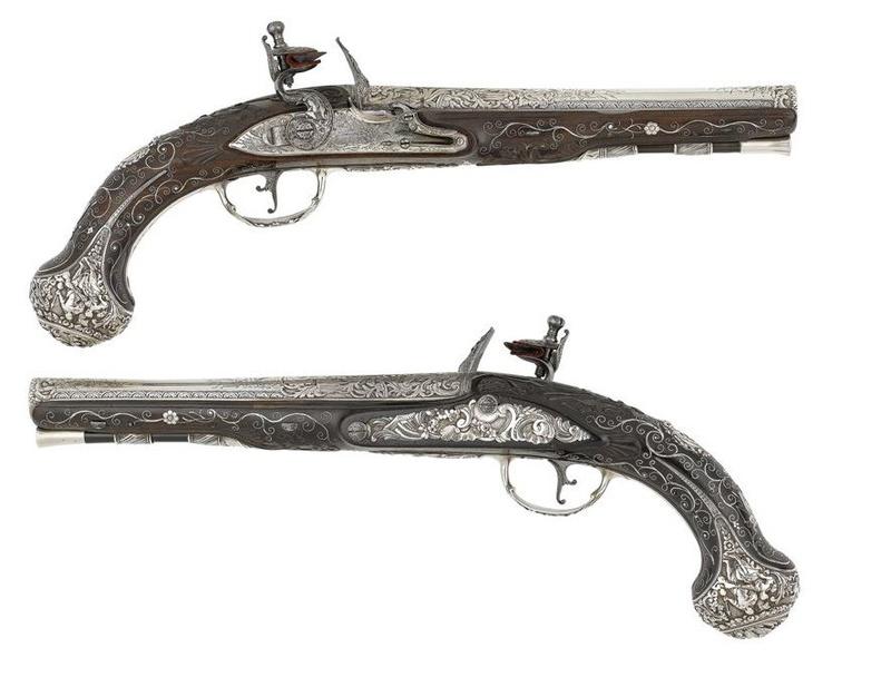 heylin - Pistolet à silex Joseph Heylin Paire10