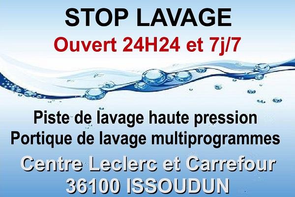 ISSOUDUN - STOP LAVAGE. Piste de lavage haute pression Stop_l11