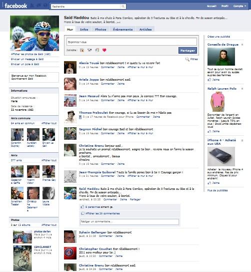 Saïd Haddou sur FaceBook ! Nouvel10