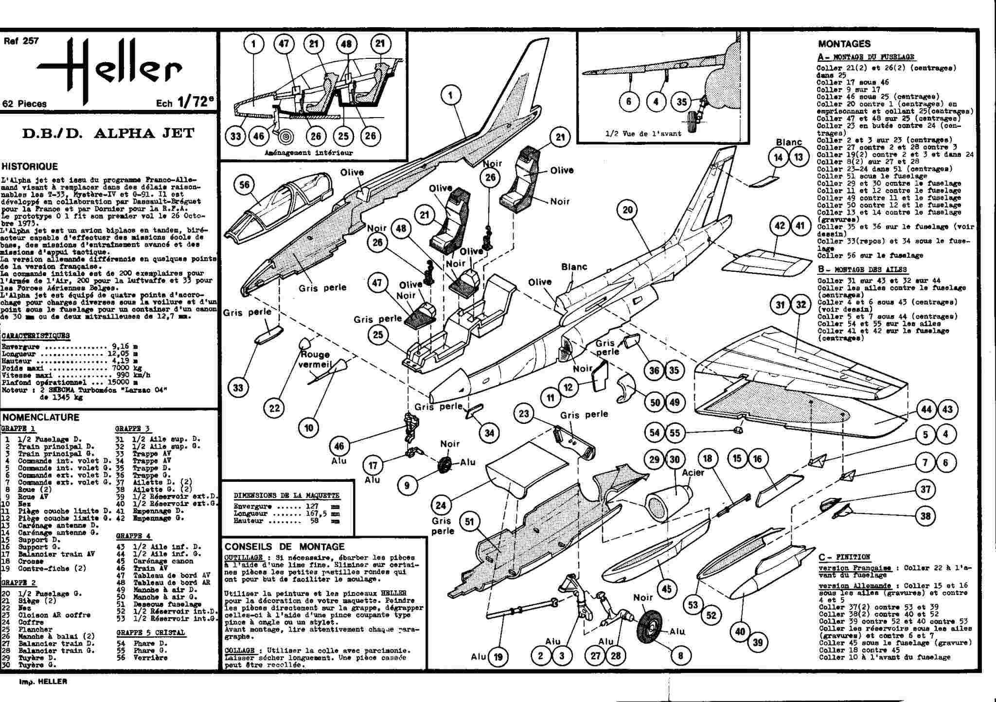 Dasault Breguet Dornier Alphajet, 1/72, Heller Alphat24