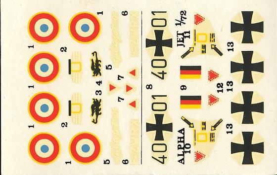 Dasault Breguet Dornier Alphajet, 1/72, Heller Alphat25