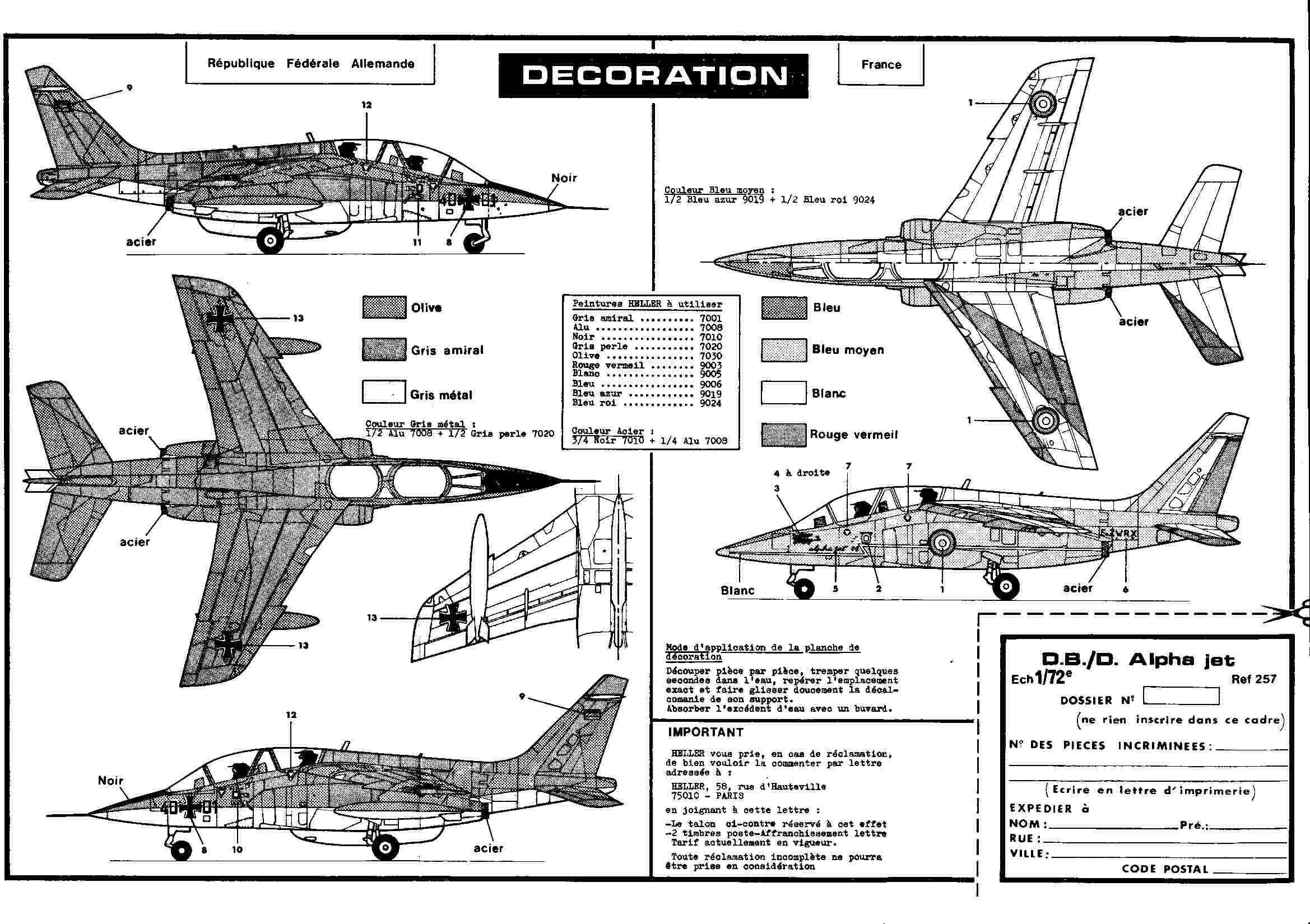 Dasault Breguet Dornier Alphajet, 1/72, Heller Alphat26
