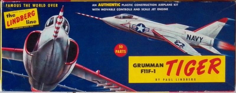 Grumman F9F-9 (F11F) Tiger, Lindberg 1/48, 1955 Grumma10