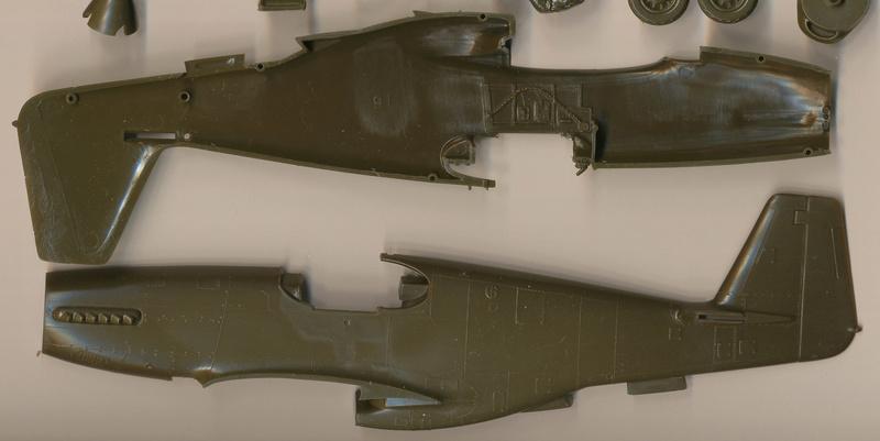North American P-51B Mustang, Monogram, 1/48, 1999 Img_0402