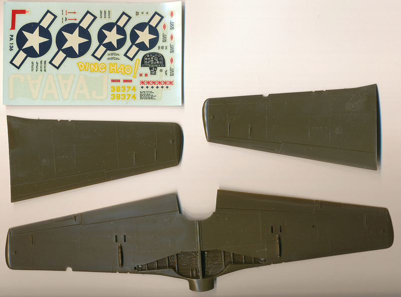 North American P-51B Mustang, Monogram, 1/48, 1999 Img_0404