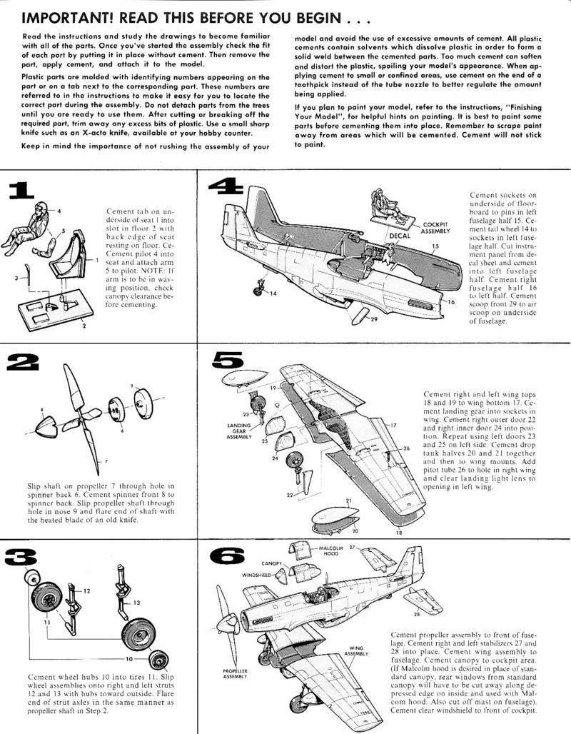 North American P-51B Mustang, Monogram, 1/48, 1999 Img_0406
