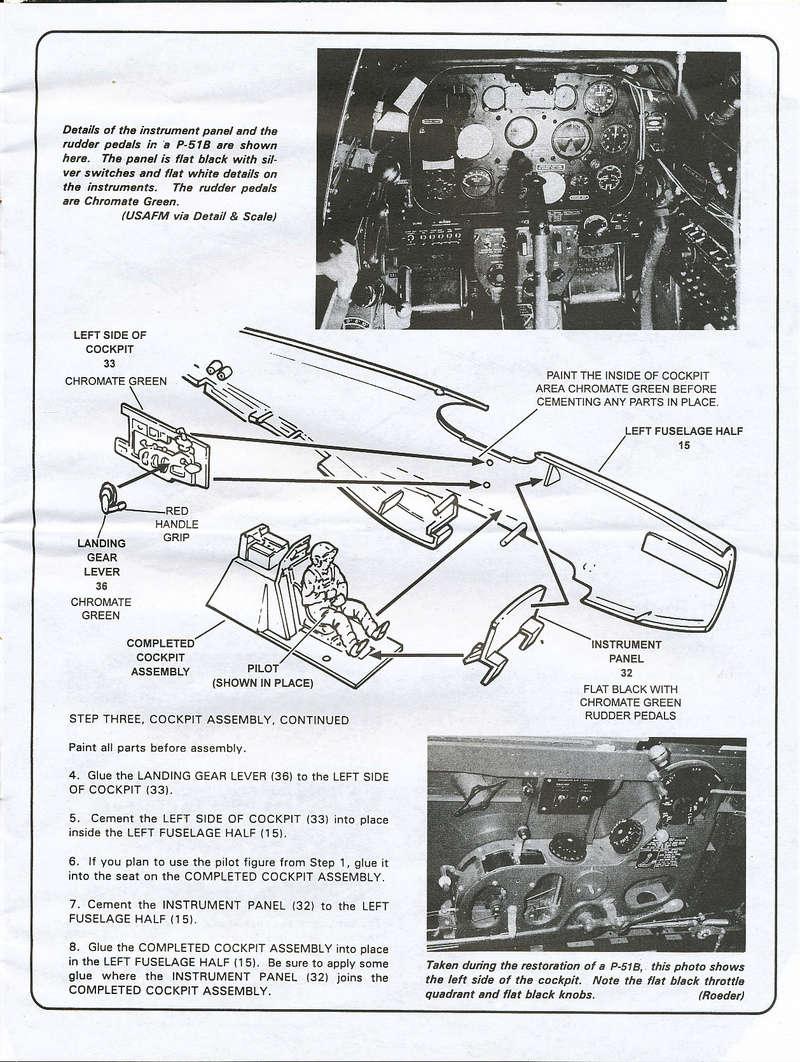 North American P-51B Mustang, Monogram, 1/48, 1999 North_35