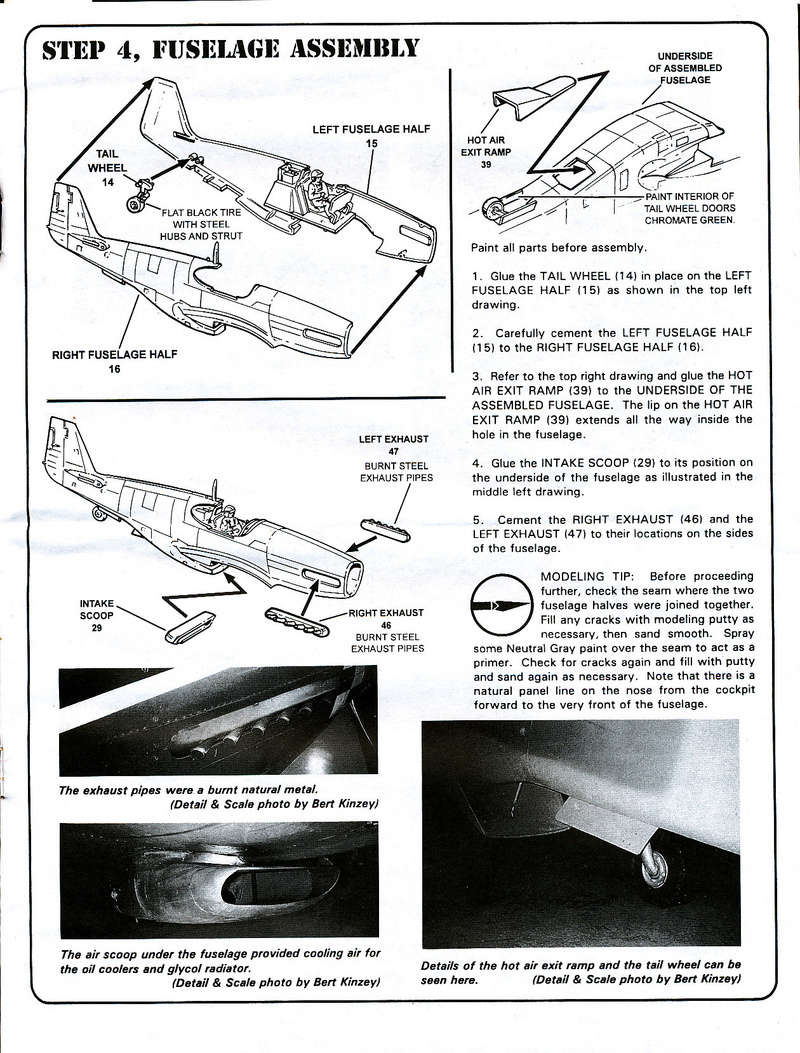 North American P-51B Mustang, Monogram, 1/48, 1999 North_37