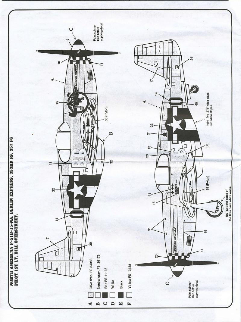 North American P-51B Mustang, Monogram, 1/48, 1999 North_42