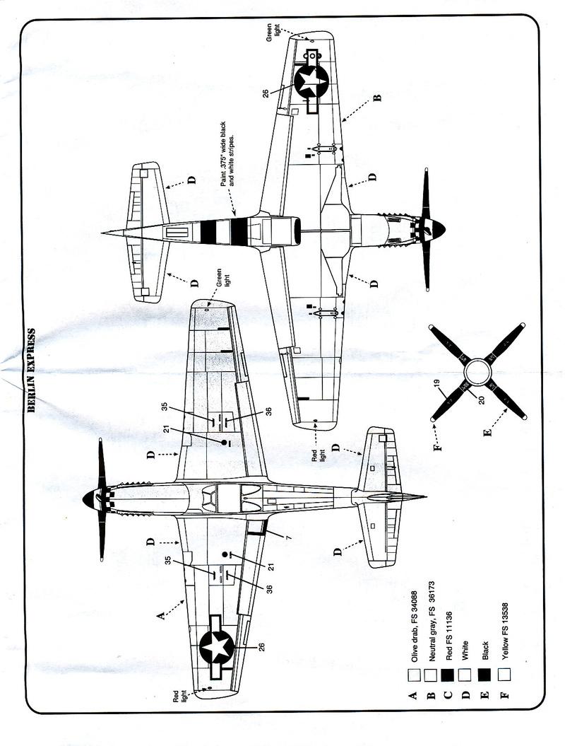North American P-51B Mustang, Monogram, 1/48, 1999 North_43