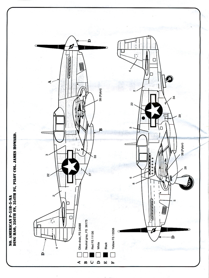 North American P-51B Mustang, Monogram, 1/48, 1999 North_44