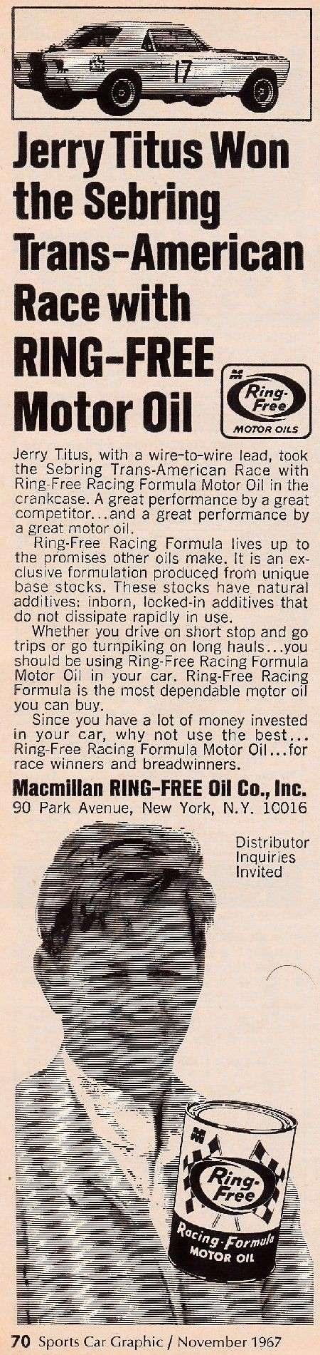 L'équipe de course Terlingua de Shelby-American en 1967 17pubr10